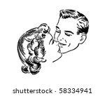 loving couple   retro clip art