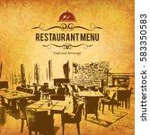 restaurant menu design. vector...   Shutterstock .eps vector #583350583