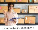 young entrepreneur  teenager...   Shutterstock . vector #583350613