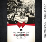 restaurant menu design. vector...   Shutterstock .eps vector #583351627