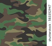 camouflage pattern background.... | Shutterstock .eps vector #583352947