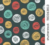 seamless pattern with hand... | Shutterstock .eps vector #583363813