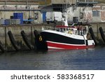 Black And Red Fishing Boat...