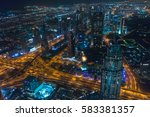 dubai  uae   february 12  2017  ... | Shutterstock . vector #583381357