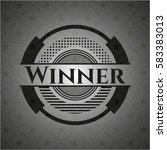 winner realistic black emblem | Shutterstock .eps vector #583383013