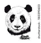 cute panda illustration  hand...   Shutterstock .eps vector #583390603