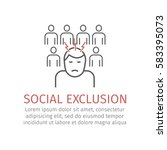 social exclusion. vector icon... | Shutterstock .eps vector #583395073