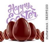 easter holiday postcard with... | Shutterstock .eps vector #583395103