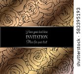abstract background with roses  ... | Shutterstock .eps vector #583395193