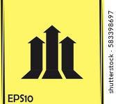 up arrow icon. | Shutterstock .eps vector #583398697