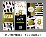 international women's day card  ... | Shutterstock .eps vector #583400617
