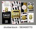 international women's day card  ... | Shutterstock .eps vector #583400773