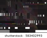 abstract glitch background... | Shutterstock .eps vector #583402993