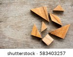 tangram puzzle wait for... | Shutterstock . vector #583403257