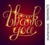 thank you gold textured...   Shutterstock .eps vector #583404673