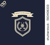 golf club logo | Shutterstock .eps vector #583408333