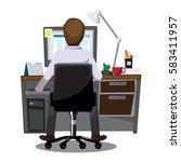 business people office workers... | Shutterstock .eps vector #583411957