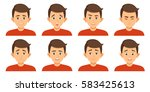 set of avatars with child... | Shutterstock .eps vector #583425613