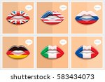 learning languages concept.... | Shutterstock .eps vector #583434073