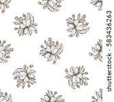 seamless pattern of apple... | Shutterstock .eps vector #583436263