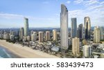aerial view of gold coast... | Shutterstock . vector #583439473