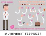 parts body template for design... | Shutterstock .eps vector #583440187