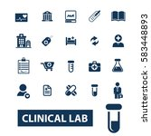 clinical lab icons | Shutterstock .eps vector #583448893
