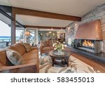 beautiful panorama house... | Shutterstock . vector #583455013