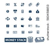 money stack icons  | Shutterstock .eps vector #583458853