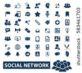 social network icons | Shutterstock .eps vector #583461703