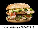A Delicious Burger With Bacon...