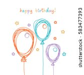 Vector Birthday Card With...