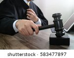 justice and law concept.male... | Shutterstock . vector #583477897