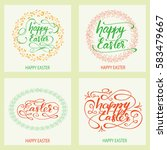 set of greeting cards designed... | Shutterstock .eps vector #583479667