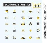 economic statistics icons  | Shutterstock .eps vector #583484317