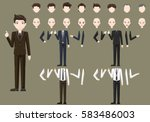 business male character... | Shutterstock .eps vector #583486003