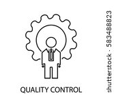 quality control line icon | Shutterstock .eps vector #583488823