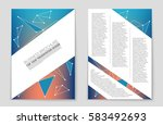 abstract vector layout... | Shutterstock .eps vector #583492693