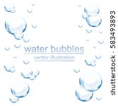 Water Bubbles Vector Background.