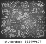 doodle vector collection of... | Shutterstock .eps vector #583499677