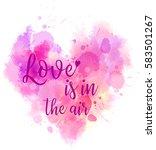 watercolor imitation heart... | Shutterstock .eps vector #583501267