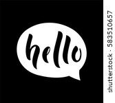 say hello message bubble.... | Shutterstock .eps vector #583510657