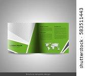 bi fold square business or... | Shutterstock .eps vector #583511443