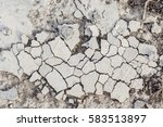 crumbling to pieces white old... | Shutterstock . vector #583513897