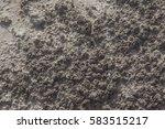 white arid cracked rough lumpy... | Shutterstock . vector #583515217