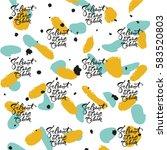 lettering for birthday at... | Shutterstock .eps vector #583520803