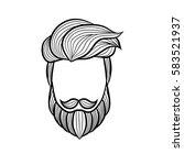 beard man logo element   vector ... | Shutterstock .eps vector #583521937