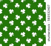 clover leaves background. st.... | Shutterstock .eps vector #583532407