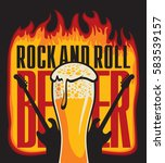 banner for the pub with live... | Shutterstock .eps vector #583539157