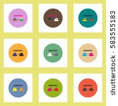 vector icon on circle various... | Shutterstock .eps vector #583555183